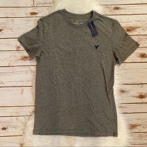 AMERICAN EAGLE SHORT SLEEVE CREW NECK TEE GRAY